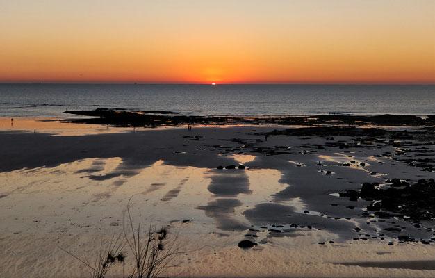 .....beim Sonnenuntergang.