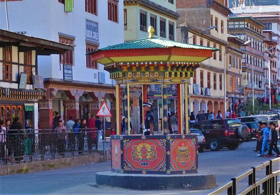 Verkehrsregelung in Thimphu