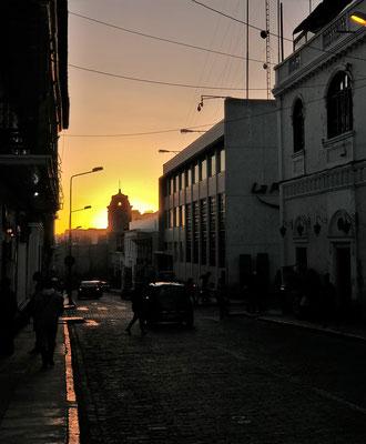Abendstimmung in Arequipa.