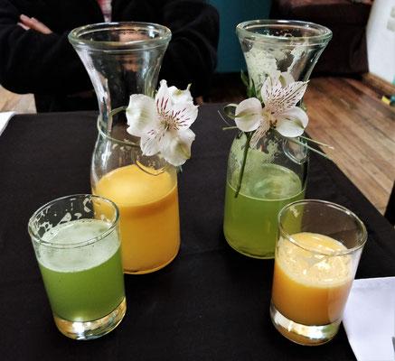 Mango und Maracuia-Mint Saft und.....