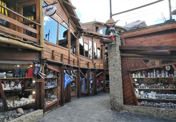 ......Ski Ort in den Bergen.