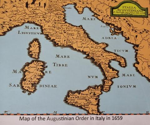 Die Karte von Italien 1659 (Kopie)