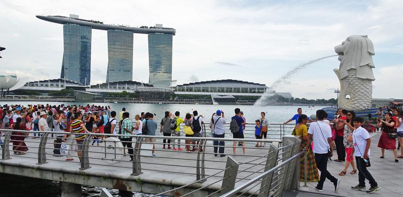 Der Merlion, das Wahrzeichen von Singapur.