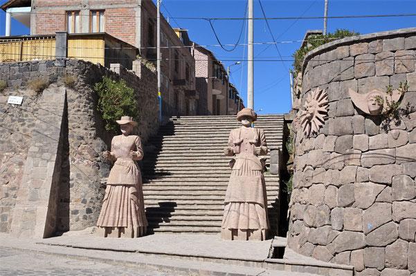 Ein spezieller Dorfeingang.