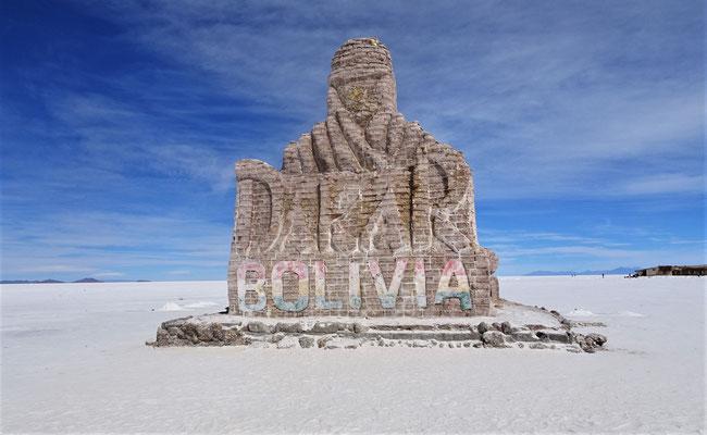 Die Salzskulptur für die Dakar Rally.