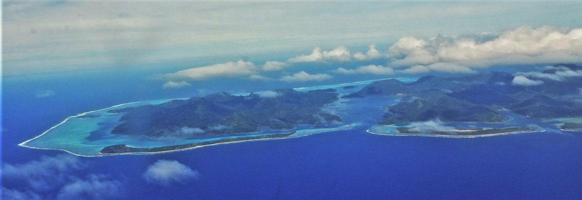 Weiterflug nach Huahine.