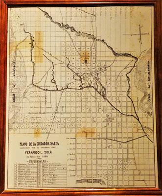 Der Stadtplan von 1888.