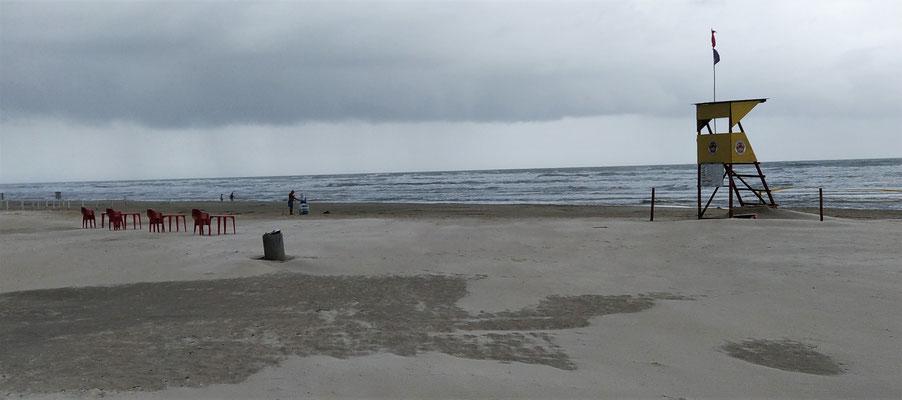 Der weitläufige Strand.