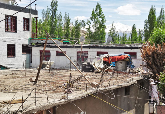 Die Installation auf dem Dach