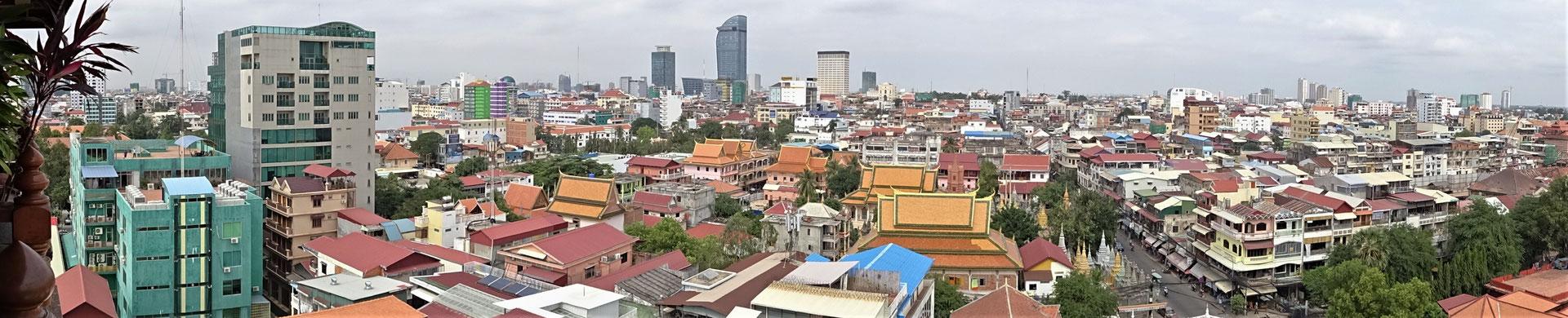 Der Blick über die Stadt.....