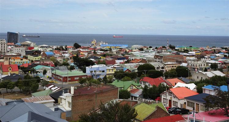 Der Blick über Punta Arenas.