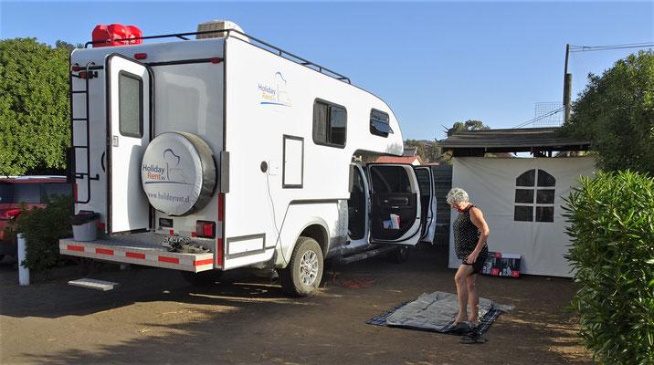 Beim Camping Sueno de Verano in Rancura.....