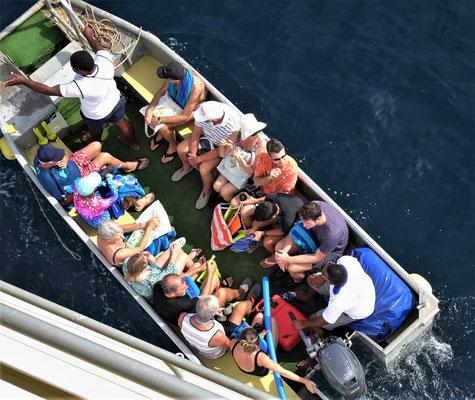 Wir steigen von Bord.....