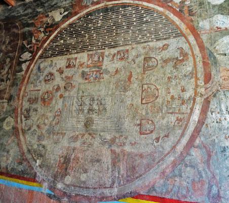 ...mit alten original Wandbilder aus dem 9. Jh.....