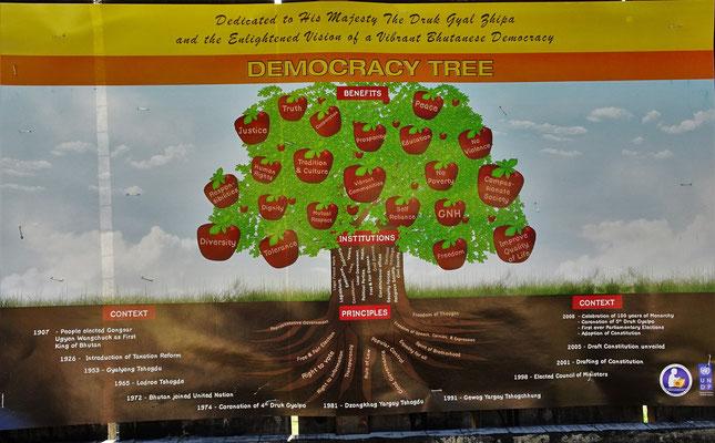Der Demokratie Baum (trifft man in ganz Bhutan an)