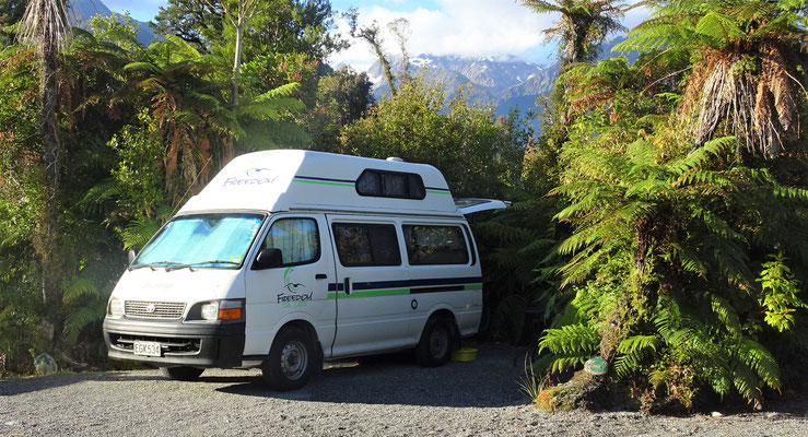 Der Country Campingplatz in Franz Josef.