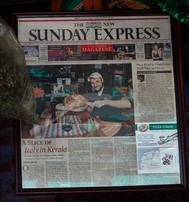 ...der sogar in die Zeitung kam.