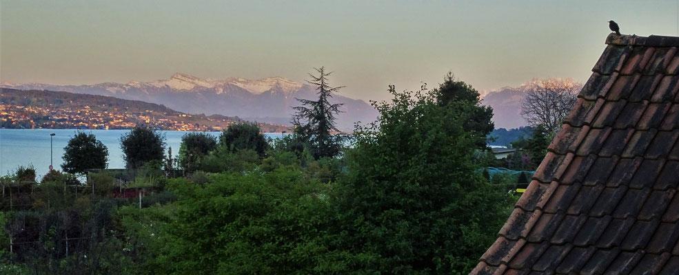 .....mit diesem Alpenblick wo wir...