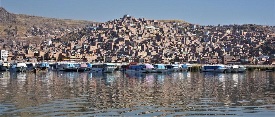 Der Blick zurück auf Puno.