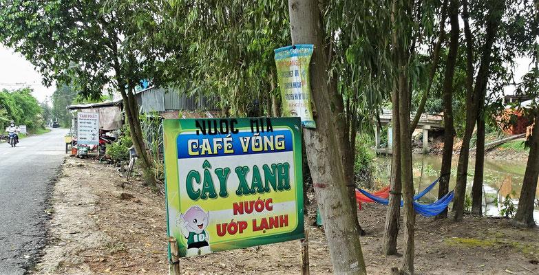 Nuoc Mia : Zuckerrohr; Cafe Vong : Kaffee in Hängematte; Cay Xantl : Grüne Bäume; Cay Xanh : Gekühltes Wasser.
