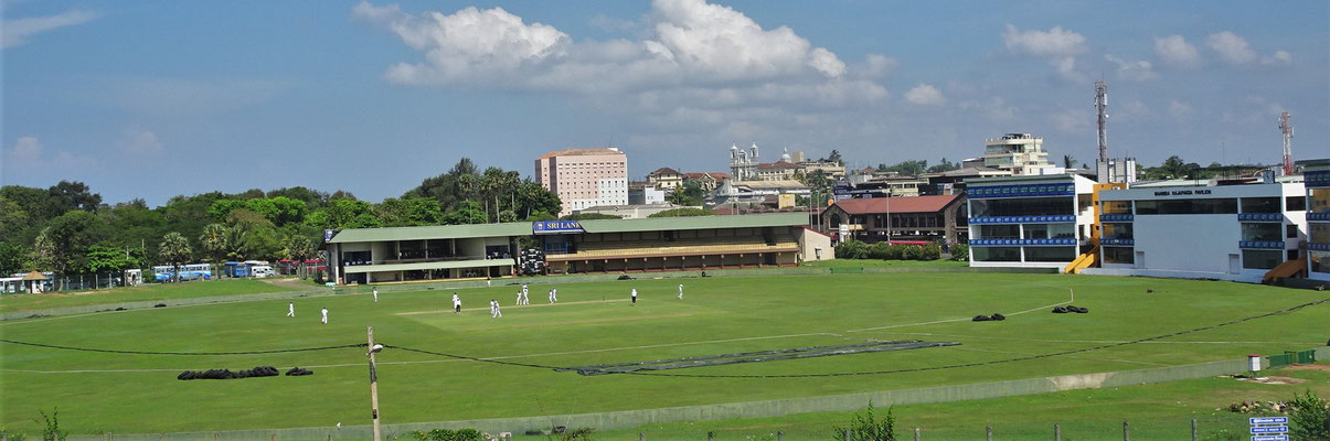 Das Cricket Stadion....