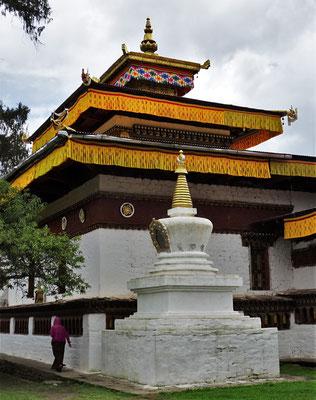 ...ältesten Tempelanlage, Kyichu Dzong, in Bhutan aus dem 7. Jh. ...