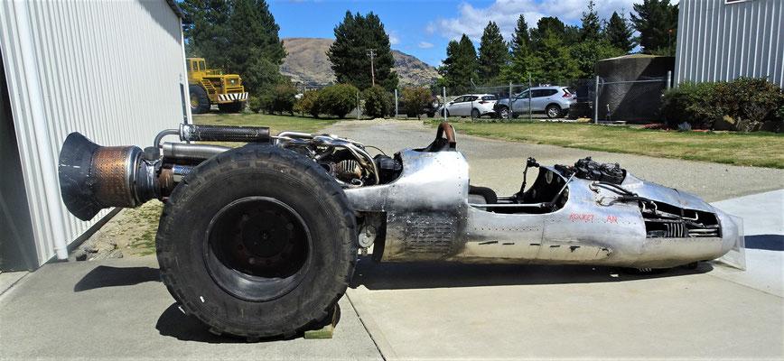 Düsenfahrzeug das für einen Film gebaut wurde.