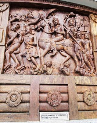 Siddhartha bei der Abreise.