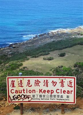 ....zur Südspitze von Taiwan...