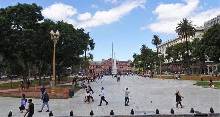 Der Rosa Palast des Präsidenten.