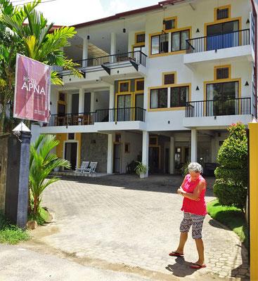 Unser Hotel Vacanza in Galle.