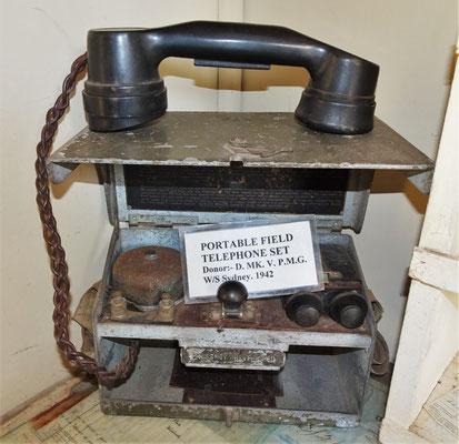 Das Feldtelefon.