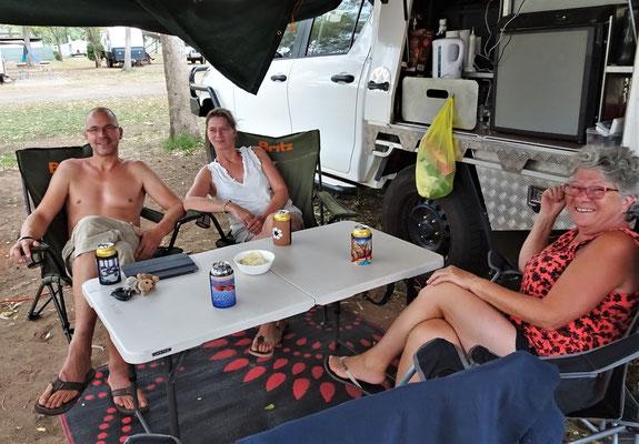 Sabine und Frank in Alice Springs.