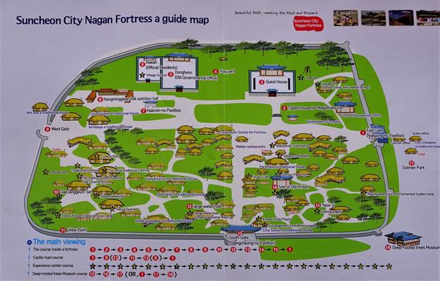 Der Übersichtsplan des Nagan Village.