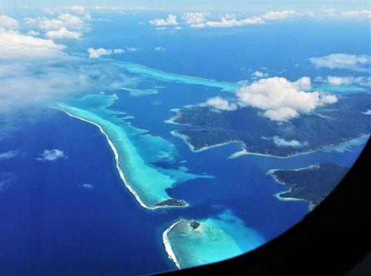 .......sahen wir die Inselwelt von Oben.
