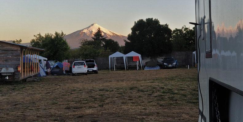 .....der aktive Vulkan Villarrica.