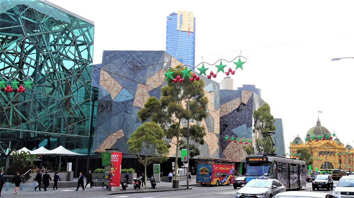 Der Federation Square...