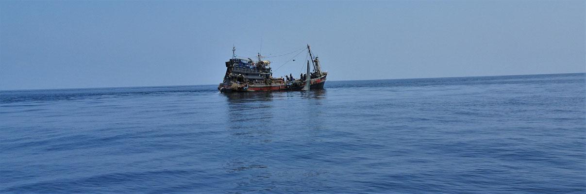 Auf diesem Fischerboot...