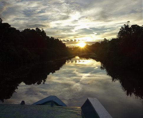 ....wir den Sonnenuntergang geniessen.