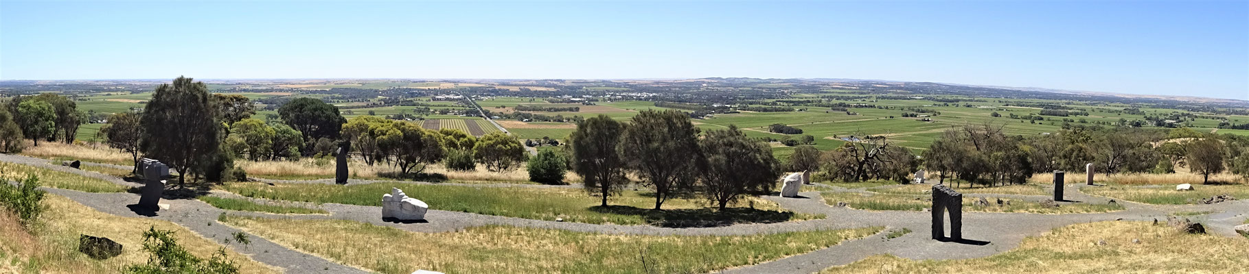 ...mit der Aussicht aufs Eden Valley.
