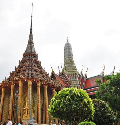 Eine reich dekorierte Tempelanlage....