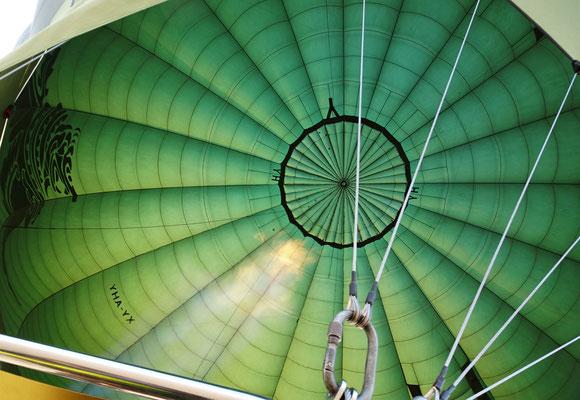 Das Innere des Ballons.