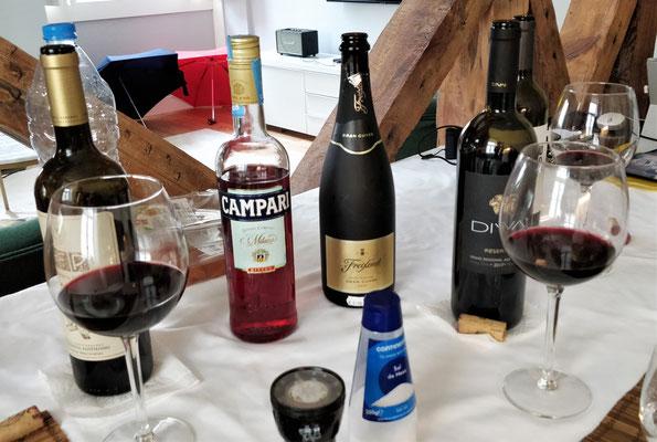 ....einer Weindegustation......nach dem Apéro.