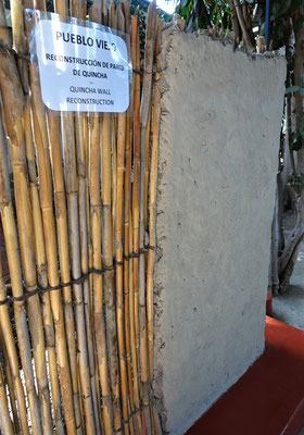 Die Bauweise mit Bambus und Lehm.