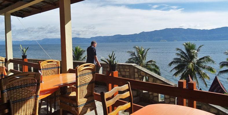...und die Aussicht vom Restaurant.