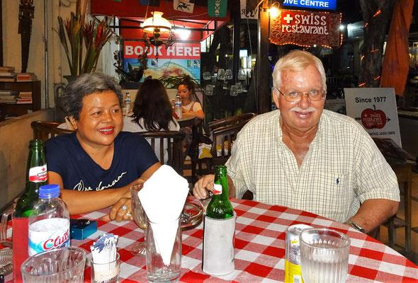 Suci und Jon vom Swiss Restaurant die Ugo vor 38 Jahren kennen lernte.