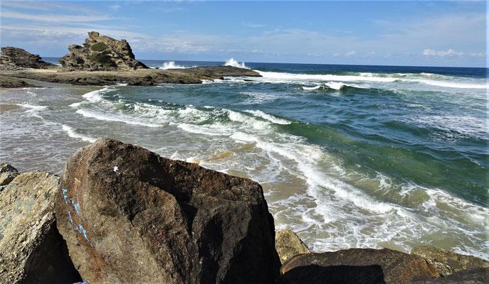 .....und der Strand mit....
