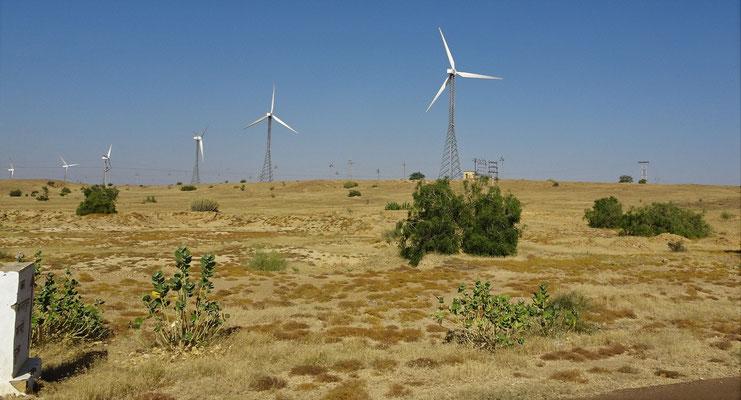 Windräder zur Stromerzeugung.
