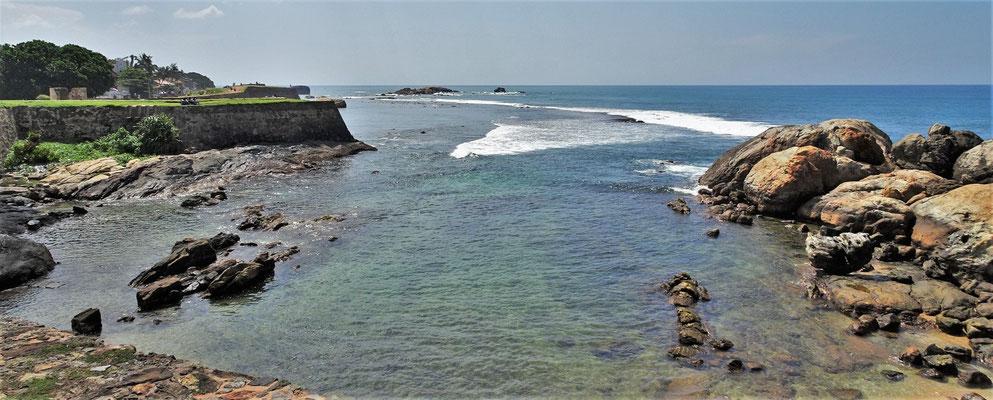 Das Riff vor dem Fort...