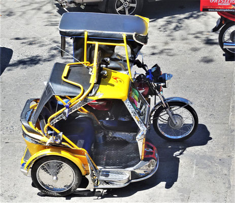 Ein Tricycle-Taxi.